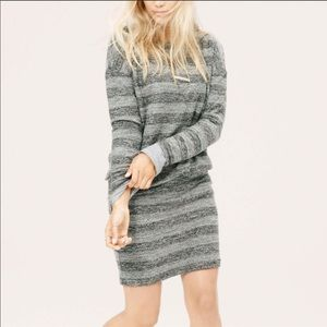 LOU & GREY striped cinched waist casual dress
